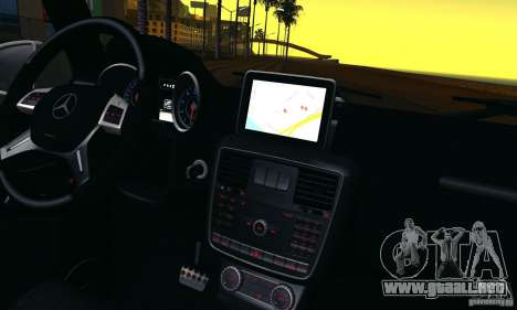 Mercedes-Benz G65 AMG 2013 para vista lateral GTA San Andreas