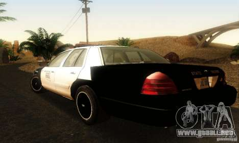 Ford Crown Victoria Oklahoma Police para GTA San Andreas left