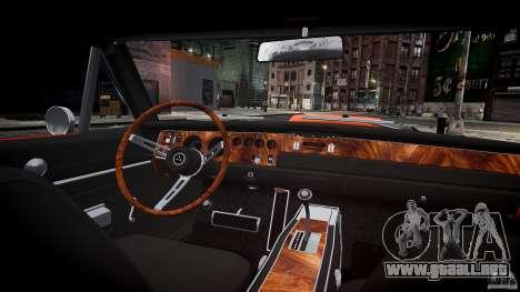 Deportivo Dodge cargador RT 1969 tun v1.1 para GTA 4 vista superior