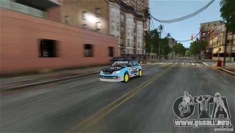 Subaru Impreza WRX STI Rallycross KMC Wheels para GTA 4 left