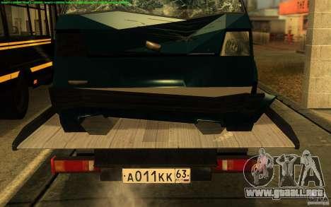 Camión de remolque 14 3302-gacela para GTA San Andreas vista hacia atrás