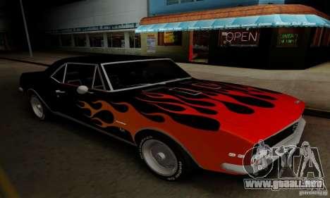 Chevrolet Camaro SS 1967 para visión interna GTA San Andreas