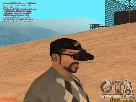 NV Goggles para GTA San Andreas segunda pantalla