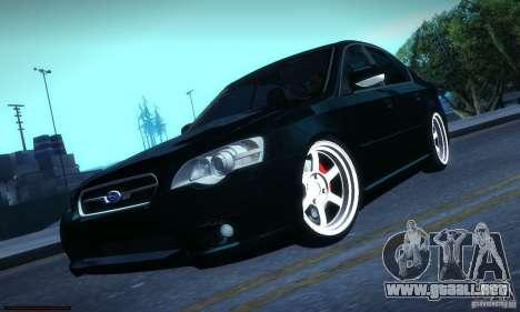 Subaru Legacy BIT edition 2004 para GTA San Andreas vista hacia atrás
