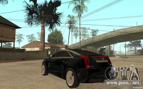 Cadillac CTS V Coupe 2011 para GTA San Andreas vista posterior izquierda