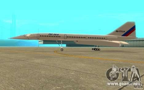 Tu-144 para GTA San Andreas vista posterior izquierda