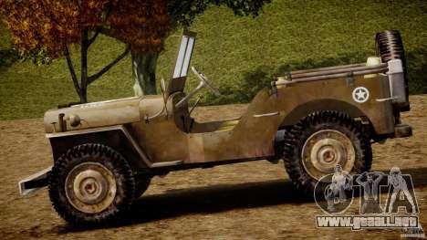 Jeep Willys [Final] para GTA 4 Vista posterior izquierda