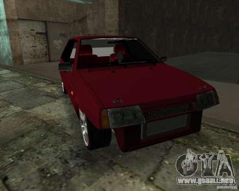 VAZ 2109 Drift para GTA San Andreas vista posterior izquierda