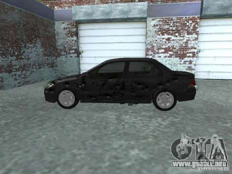 Mitsubishi Lancer 1.6 para visión interna GTA San Andreas