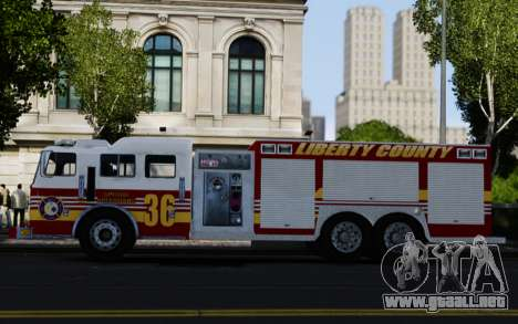 Pierce Heavy Rescue Pumper V1.4 para GTA 4 left