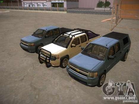 Chevrolet Silverado para vista inferior GTA San Andreas