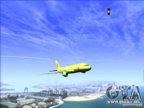 Airbus A-320 S7Airlines para visión interna GTA San Andreas