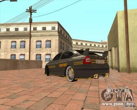 Skoda Octavia Taxi para GTA San Andreas vista posterior izquierda