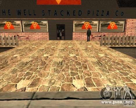 Pizzeria nueva en IdelWood para GTA San Andreas sucesivamente de pantalla
