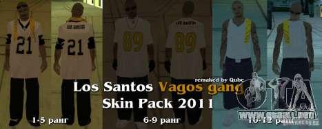 Nuevos aspectos de la pandilla de Vagos para GTA San Andreas