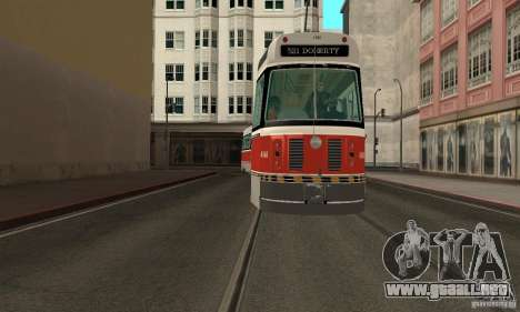 Canadian Light Rail para GTA San Andreas vista posterior izquierda