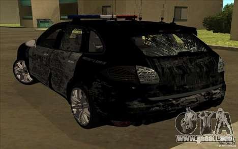 Porsche Cayenne Turbo 958 Seacrest Police para la vista superior GTA San Andreas