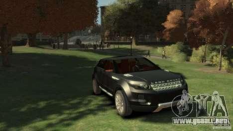 Land Rover Rang Rover LRX Concept para GTA 4 visión correcta