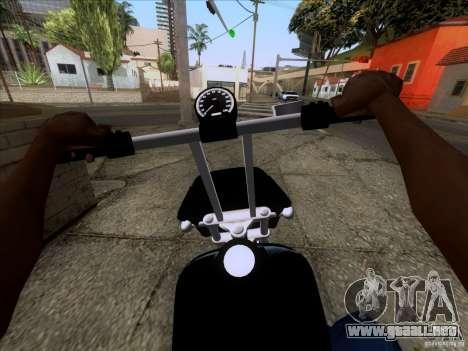 Harley Davidson FXD Super Glide para la visión correcta GTA San Andreas