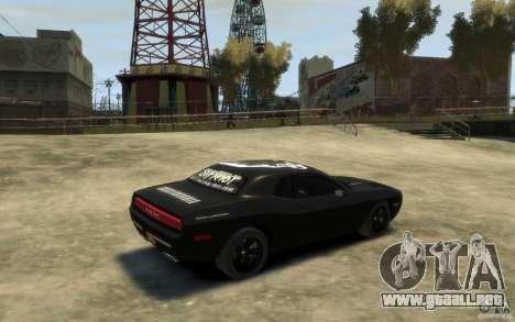 Dodge Challenger Concept Slipknot Edition para GTA 4 visión correcta