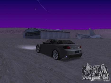 Mazda RX-8 Veilside para GTA San Andreas vista posterior izquierda
