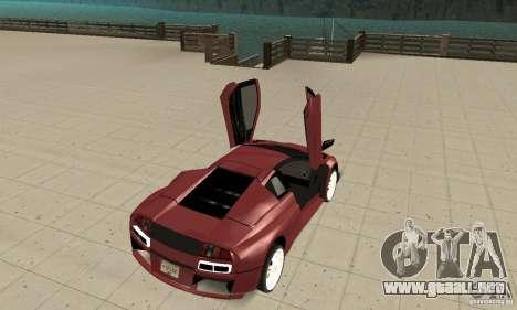 Lamborghini Murcielago Tuned para GTA San Andreas vista hacia atrás