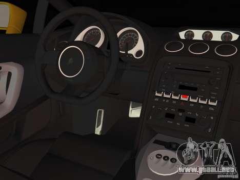 Lamborghini Gallardo para GTA Vice City vista posterior