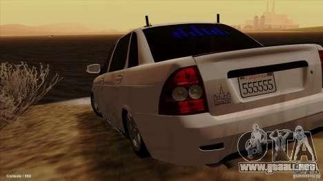 LADA 2170 California para GTA San Andreas left