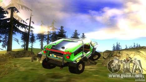 Raptor para GTA San Andreas vista posterior izquierda