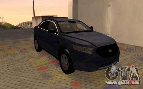 Ford Taurus Interceptor Unmarked 2013 para GTA San Andreas left