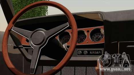 Plymouth Hemi Cuda 426 1971 para vista lateral GTA San Andreas
