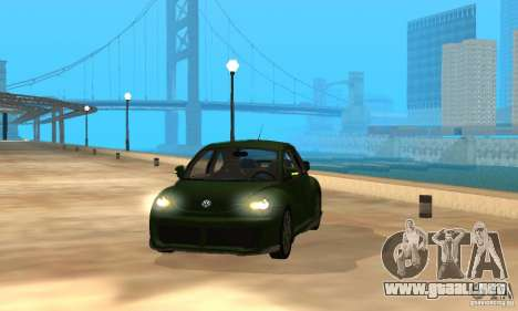 Volkswagen Bettle Tuning para visión interna GTA San Andreas