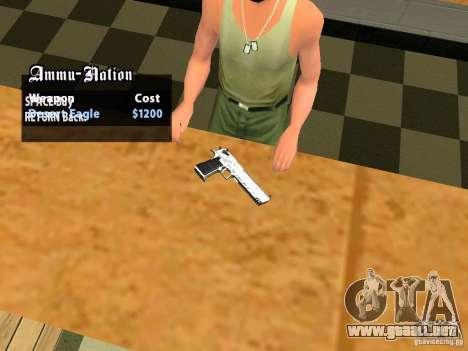 TeK Weapon Pack para GTA San Andreas novena de pantalla