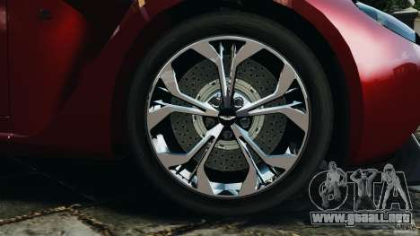 Aston Martin V12 Zagato 2011 v1.0 para GTA 4 vista lateral