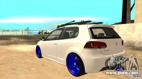 Volkswagen Golf MK6 Hybrid GTI JDM para GTA San Andreas vista posterior izquierda