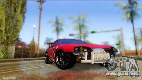 Toyota Supra HELL para GTA San Andreas vista hacia atrás