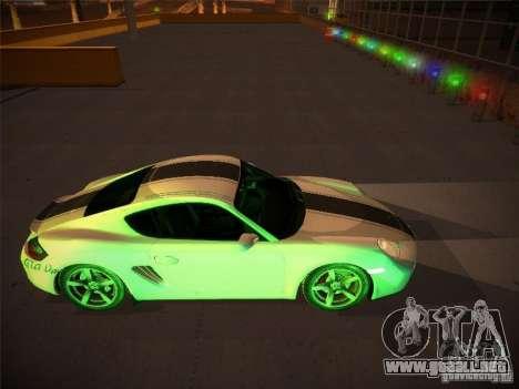 Porsche Cayman S Snow para visión interna GTA San Andreas