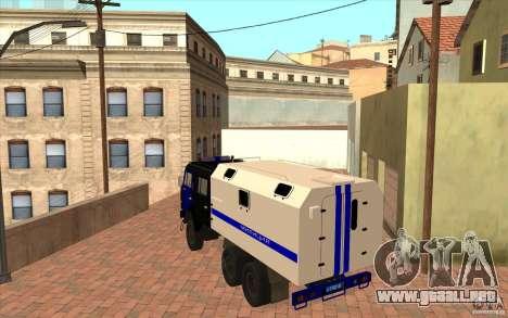 Policía Kamaz para la visión correcta GTA San Andreas