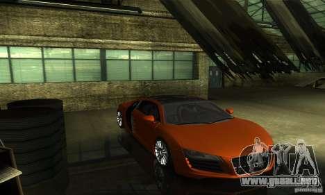 Audi R8 V12 TDI para visión interna GTA San Andreas