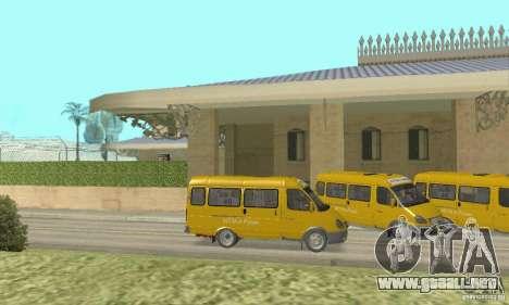 Gaz 2705 Minibus para GTA San Andreas vista posterior izquierda