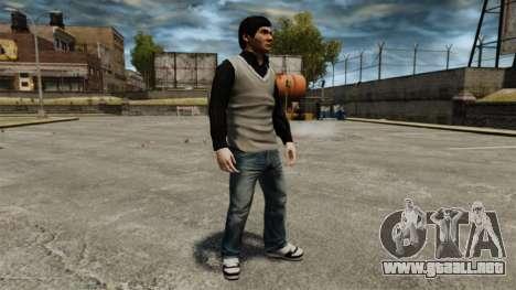 Jackie Chan para GTA 4 adelante de pantalla