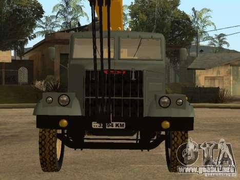 Camión KrAZ para GTA San Andreas vista hacia atrás