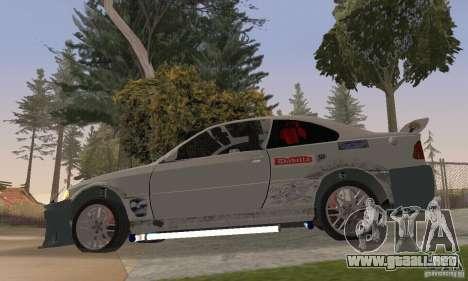 BMW M3 Hamman Street Race para GTA San Andreas vista posterior izquierda