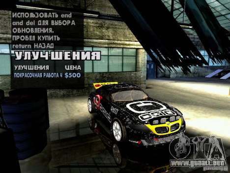 BMW Z4 Rally Cross para la vista superior GTA San Andreas