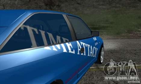 Opel Astra Time Attack para visión interna GTA San Andreas