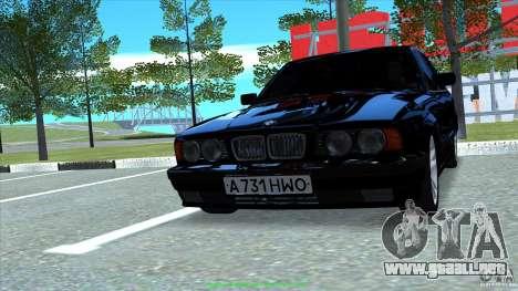 BMW E34 V1.0 para la visión correcta GTA San Andreas