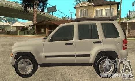 Jeep Liberty 2007 Final para GTA San Andreas left