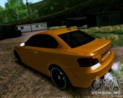 BMW 135 Tuning para GTA San Andreas vista posterior izquierda