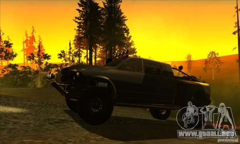 Dodge Ram All Terrain Carryer para GTA San Andreas vista posterior izquierda