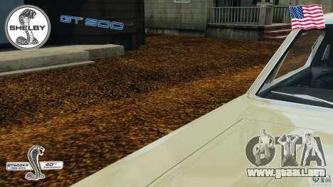 Shelby GT 500 para GTA 4 vista desde abajo